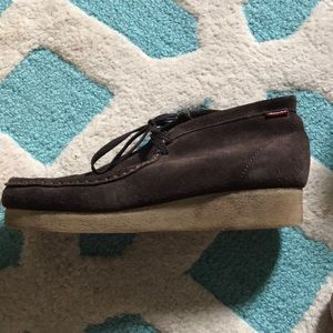 Clarks brown suede padmore shoes
